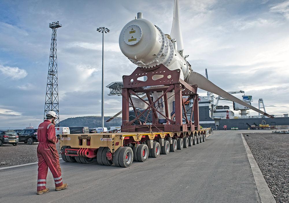 AR1500 Turbine pre deployment at Nigg Energy Park